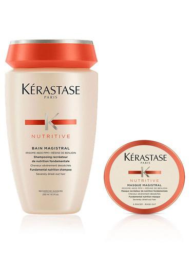 Kerastase Kerastase Nemlendirici Şampuan - Nutritive Bain Magistral 250 ml+ Nutritive Masque Magistral Saç Maskesi 80 ml Renksiz